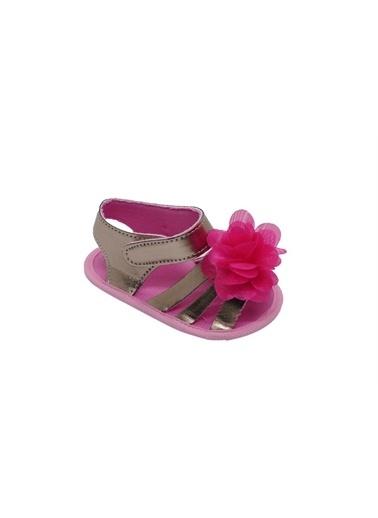 First Step Bebek Çiçekli Sandalet Gümüş-G-2080 Renkli